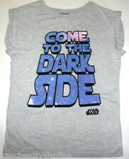 PRIMARK LADIES DISNEY STAR WARS COME TO THE DARK SIDE T SHIRT TEE TOP SIZE 6-20