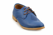 Quarks Blue Casual Laser Cut Lace Up For Men (Q1075BL)