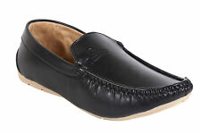 Quarks Classic Black Loafer Shoes For Men (Q1055BK)
