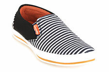 Quarks Black Casual Canvas Loafers For Men (Q1083BK)