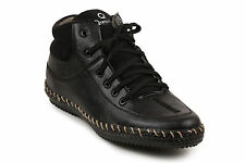 Quarks Black Ankle Length Shoes For Men (Q1068BK)