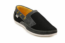 Quarks Black Mesh Loafers For Men (Q1077BK)