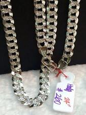 SOLID 14k Italy White Gold Chain Necklace - 24 inches - 26.0 g
