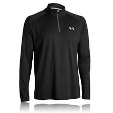 Under Armour Mens Tech Novelty Black Half-Zip Long Sleeve Sports Running Top