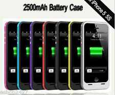 2500mAH Power Battery Bank Back Leather look back Case for Apple iPhone 5 5S 5C