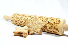 Engraved rolling pin for Embossed cookies 16.9-inch …