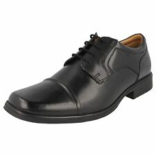 SALE MENS CLARKS HUCKLEY CAP LEATHER LACE UP TOE CAP FORMAL WORK SMART SHOES