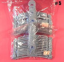 2 Dozen BLUE DOLL HANGERS #5 Size (5 inches wide) Plastic. NEW *for DOLL CLOTHES