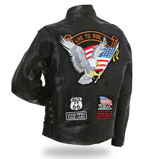 giacca Aigle / live a ride S M L XL 2X 3X 4XL ( motociclista harley custom )