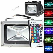 85-265V 10W 900LM Remote Control LED Flood Light For Outdoor RGB