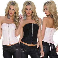 Donna Corsage Bustino Intimo Lingerie Corsetto S 34 36 Top Party Club sexy