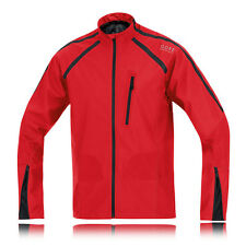 Gore X-Running Windstopper Active Shell Mens Red Black Running Trail Jacket Top