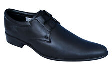MONTE CARDIN BRAND NEW BLACK LEATHER CASUAL FORMAL LACED SHOES BON-02