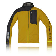 Gore Fusion Windstopper Active Shell Mens Yellow Black Windproof Jacket Top