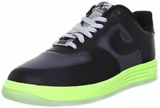 Mens NIKE LUNAR FORCE 1 FUSE Black Leather Trainers 599839 002 RRP £100