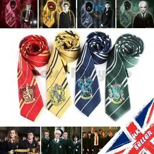 Harry Potter Ties Hogwarts School House Badge Crest Cosplay Fancy Dress Book Day