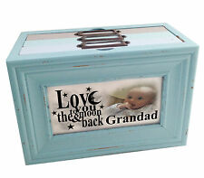 Personalised photo album, photo memory box, Grandad Birthday or Christmas gift