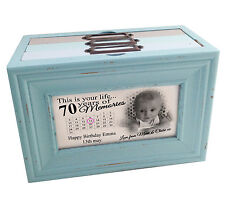 This is your life 70th birthday or any age, personalised memory box photo album