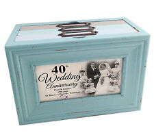 Personalised photo memory box or photo album storage, 40th wedding anniversary