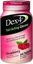 Dex 4 Glucose Tablets, Raspberry, 50 count