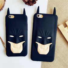 Cute 3D Hero Batman Mask Soft Silicone Case Cover for Apple iPhone 5 6/6S 6 Plus