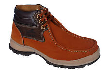 Tiger Hill Brand Mens Tan Ankle Lace Casual Shoes -- 4973