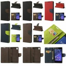 Mercury Genuine Fancy Diary Leather Flip Cover Stand for Sony Xperia Z2 D6502