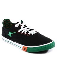 Sparx Brand Mens Black Green Casual Canvas Sneakers Shoes SM192