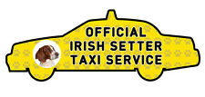 Funny Irish Setter Dog Taxi Sevice vinyl car decal sticker Pet Animal Lover