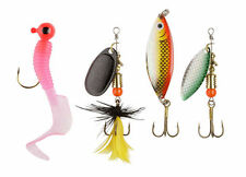 ABU GARCIA PERCH PIKE FISHING LURE KIT TROUT SPINNER SET PACK OF 4 SPOONS