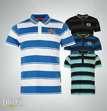 Mens Branded Everlast Everyday Yarn Dye Bold Stripe Polo Sirt Top Size S-XXXXL