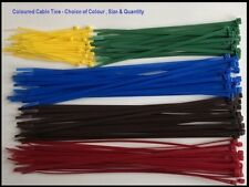 COLOURED CABLE TIES - Plastic / Nylon Zip Tie Red Blue Brown Yellow Green Colour