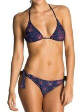 BNWT Roxy Pretty Ditsy Bikini Set, Brazilian Reversible Pants Sz L UK 12 EU 40
