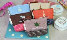 Mini cute Coin Purse Retro Cotton Handbag Pouch Wallet Money Bag Case Zipper#UK#