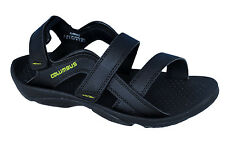 Columbus Brand Mens Black Green Sports Sandal - Flamingo