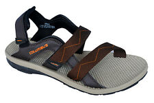 Columbus Brand Mens Brown Orange Sports Sandal - Organ