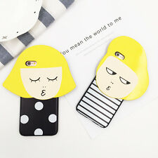 Cute Korean Yellow Hair Girls Silicone Soft Case Cover for iPhone 5/5S 6S 6Plus