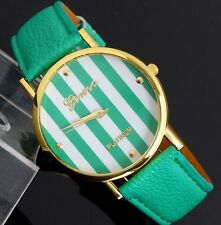 Geneva Womens Striped Wristwatches