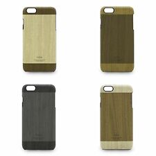KAJSA Wood Pattern Leather Coated Back Case Cover for for Apple iPhone 6s / 6