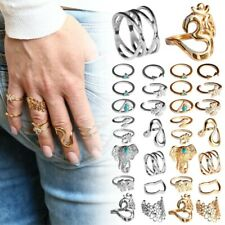 Set Fingerring Ring Fingerspitzenring Knuckle Nagelring Obergelenkring Silbern
