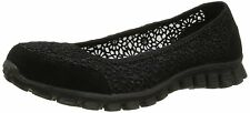 Skechers 'Sweet Pea' Black Textile Lightweight Comfort Walking MEMORY FOAM Shoes