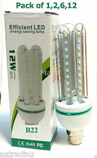 Efficient LED 12W Light Spotlight Bayonet Lamps Bulbs B22 Energy Saving A