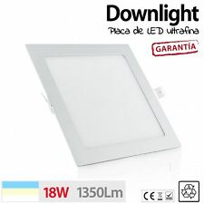 Downlight LED 18W ultra fino CUADRADO LUZ BLANCA FRIO CALIDA NEUTRA placa techo