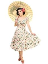COLLECTIF VINTAGE ATOMIC FLAMINGO DOLORES DOLL DRESS SZ 8 - 22 1950S