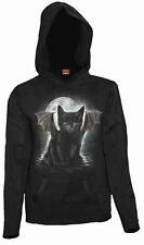 SpiralDirect BAT CAT, Kangaroo Mesh Sleeve Hoody Black RRP= 29.99|Cat|Vampire