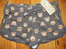 Ladies MONKEY EMOJI Shorts Primark