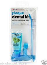 Plaque Dental Kit Plaque & Tartar Gel Toothpaste Fingerbrush Ideal for puppies
