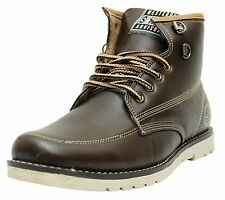 West Code Mens Synthetic Leather Casual Shoes 7082-Brown