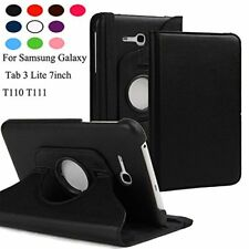 360° Rotating Leather Case Cover for Samsung Galaxy Tab 3 V T116 T110 T111 NEO