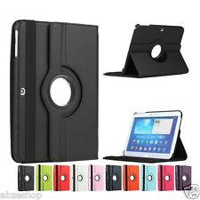 """Leather 360° Rotating Case Cover for Samsung Galaxy Tab 4 10.1"""" T530,T531,T535"""